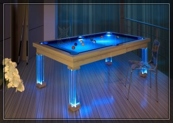 прозрачный бильярдный стол
