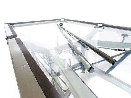 стеклянный бильярдный стол