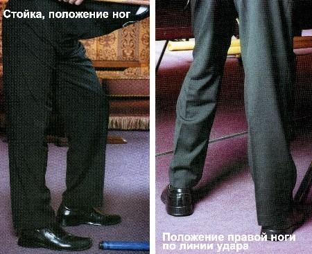 техника постановки ног