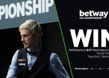 Чемпионат Великобритании по снукеру 2018. 3 сенчури Робертсона